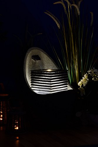 Moderner Brunnen für Terrasse oder Garten mit LED-Beleuchtung - 4