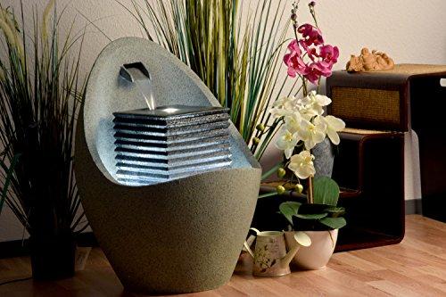 Moderner Brunnen für Terrasse oder Garten mit LED-Beleuchtung - 5