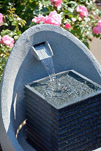 dobar Großer Design Garten-Brunnen mit Pumpe und LED´s, Polyresin, grau (steingrau), 38.7 x 32.3 x 80.3 cm, 96130e - 8