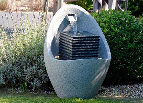Moderner Brunnen für Terrasse oder Garten mit LED-Beleuchtung - 10