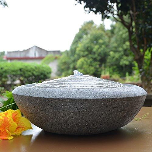 Zen Light Natur Terrazza Fontaine, Kunstharz, grau, 13x 13x 16cm - 3