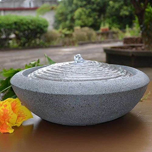 Zen Light Natur Terrazza Fontaine, Kunstharz, grau, 13x 13x 16cm - 5