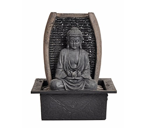 Zimmerbrunnen Zen-Buddha mit LED-Beleuchtung
