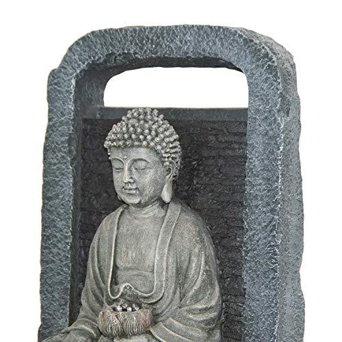 DRULINE Netherland LED Zimmerbrunnen Buddha Wasserfall, Outdoor, 38 x 64 x 28 cm - 4