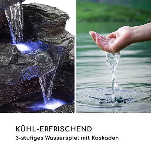 Zimmerbrunnen Kaskaden Wasserfall 39 cm hoch mit LED-Beleuchtung - 4