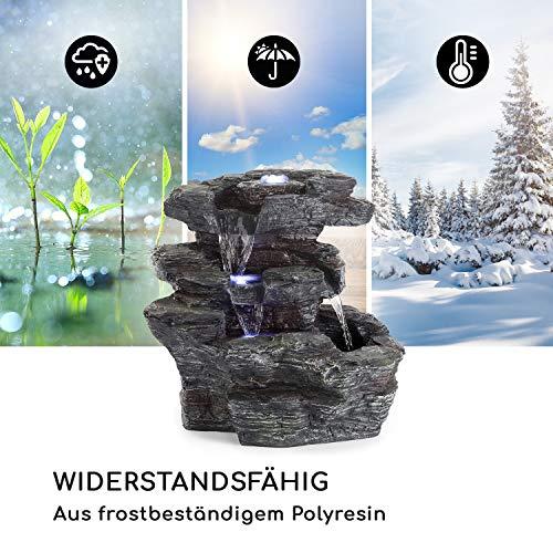 Zimmerbrunnen Kaskaden Wasserfall 39 cm hoch mit LED-Beleuchtung - 5