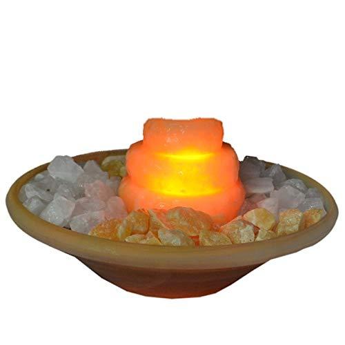 Edelsteinbrunnen mit Beleuchtung und dreistufiger Kaskade von Home Trends and More