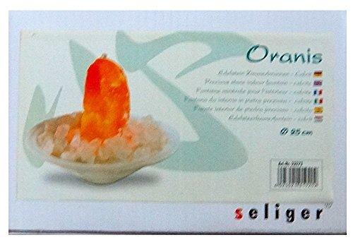 Orangencalcit-Edelsteinbrunnen mit Bergkristall Chips von Seliger - 8