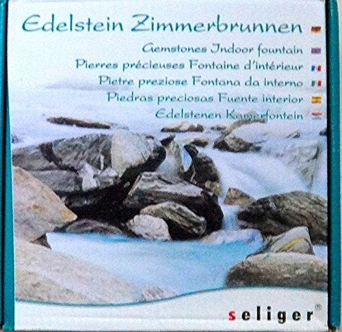 Orangencalcit-Edelsteinbrunnen mit Bergkristall Chips von Seliger - 9