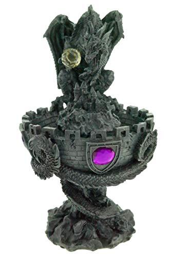 Beleuchteter Nebelbrunnen mit großem Drachen - 2