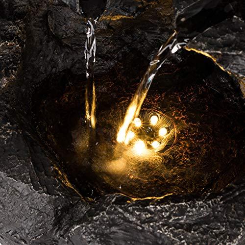 Kaskadenbrunnen Rocky Waters mit LED-Beleuchtung von blumfeldt - 3