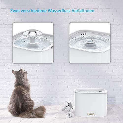 DADYPET Katzentrinkbrunnen mit Aktivkohlefilter 2L - 5