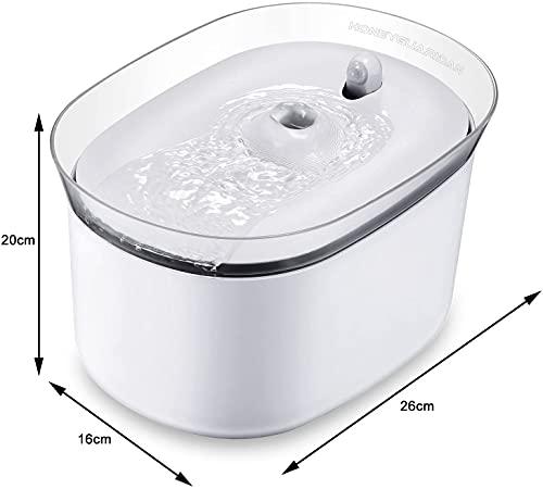 HoneyGuaridan automatischer Smart Haustier Wasserbrunnen mit Infraroterkennung, Haustier trinkbrunnen konzeptiert für Hunde und Katzen - Eine Packung mit 2 Karbonfilter - 3