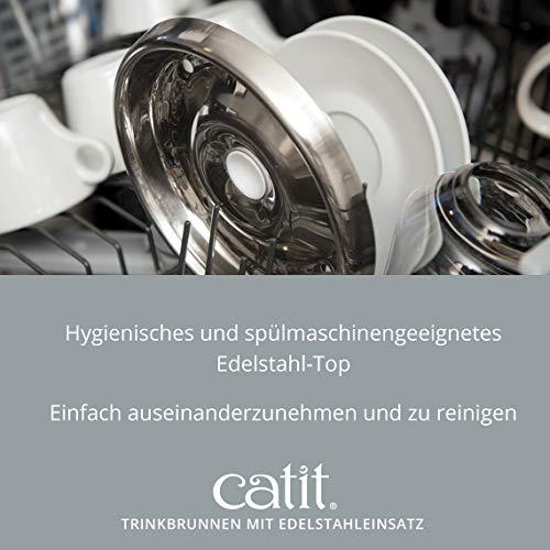 """Katzenbrunnen """"Fresh & Clear"""" mit Edelstahleinsatz von Catit 2 L - 7"""