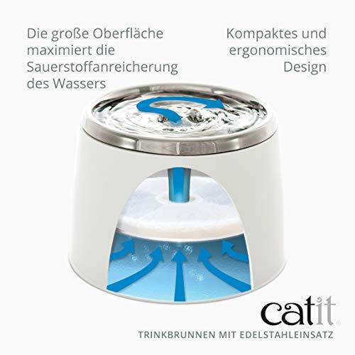 """Katzenbrunnen """"Fresh & Clear"""" mit Edelstahleinsatz von Catit 2 L - 6"""
