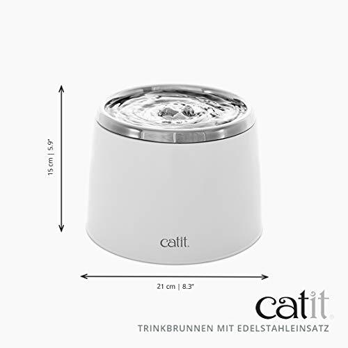 """Katzenbrunnen """"Fresh & Clear"""" mit Edelstahleinsatz von Catit 2 L - 8"""
