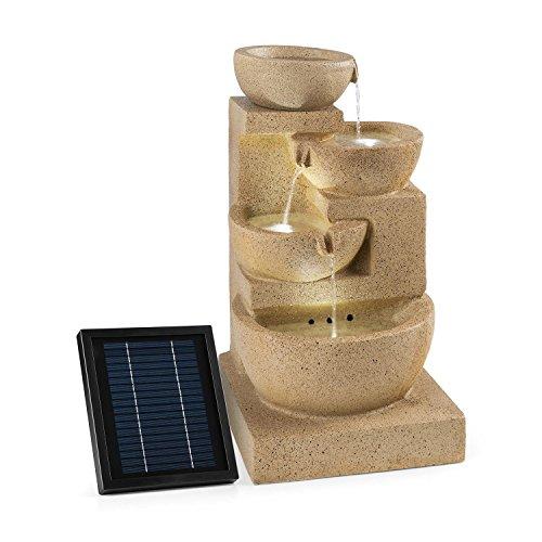 Großer Solar Zimmerbrunnen Korinth mit 4 Etagen und LED-Beleuchtung