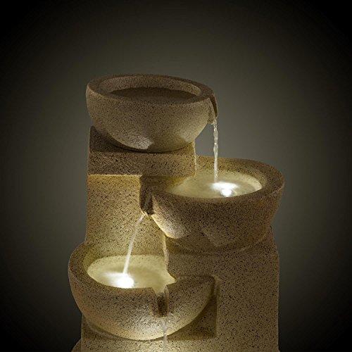 Großer Solar Zimmerbrunnen Korinth mit 4 Etagen und LED-Beleuchtung - 3