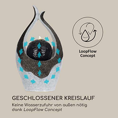 blumfeldt Noblino Gartenbrunnen - LED-Beleuchtung, für drinnen und draußen, 7W, Material: Polyresin, UV- und frostbeständig, Loopflow Concept, Netzkabellänge: 10m, automatische Luftbefeuchtung - 4