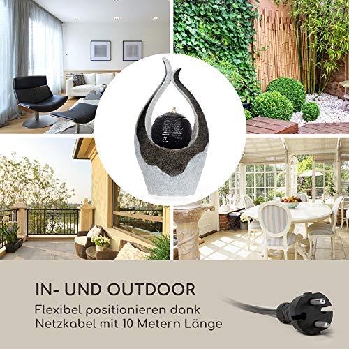 blumfeldt Noblino Gartenbrunnen - LED-Beleuchtung, für drinnen und draußen, 7W, Material: Polyresin, UV- und frostbeständig, Loopflow Concept, Netzkabellänge: 10m, automatische Luftbefeuchtung - 6