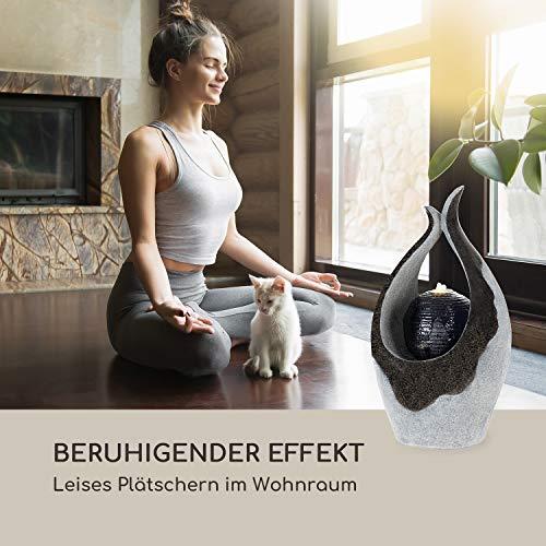 blumfeldt Noblino Gartenbrunnen - LED-Beleuchtung, für drinnen und draußen, 7W, Material: Polyresin, UV- und frostbeständig, Loopflow Concept, Netzkabellänge: 10m, automatische Luftbefeuchtung - 7