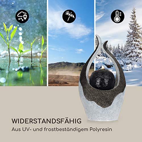 blumfeldt Noblino Gartenbrunnen - LED-Beleuchtung, für drinnen und draußen, 7W, Material: Polyresin, UV- und frostbeständig, Loopflow Concept, Netzkabellänge: 10m, automatische Luftbefeuchtung - 9