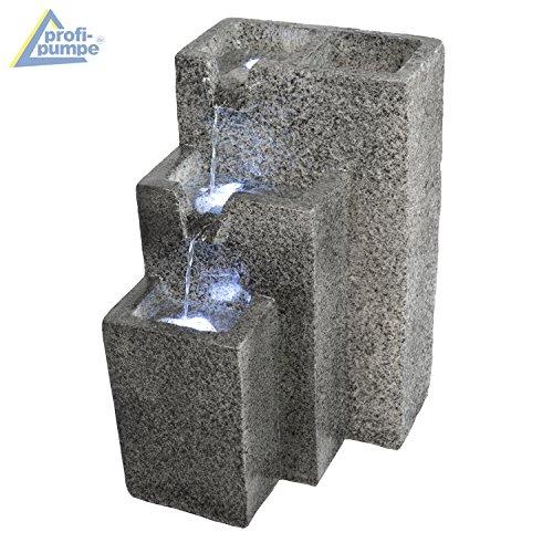 Bepflanzbarer großer Zimmerbrunnen Granitwand-Kaskade mit LED-Licht - 5