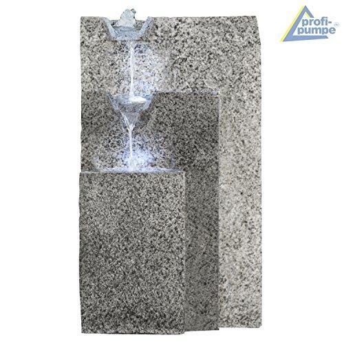 Bepflanzbarer großer Zimmerbrunnen Granitwand-Kaskade mit LED-Licht - 4