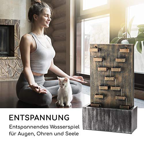 """Großer Metall Zimmerbrunnen Wasserwand """"River Crossing"""" - 2"""