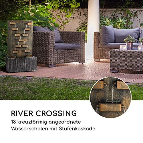 """Großer Metall Zimmerbrunnen Wasserwand """"River Crossing"""" - 7"""