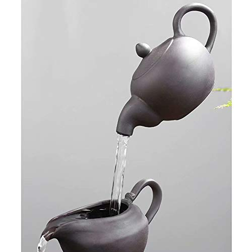 HSTFⓇ Kreative fließende Wasserdekoration, kleine Mischa, Bürowohnzimmer, Arbeitszimmer, Teehausdekoration (mit Nebel) - 3