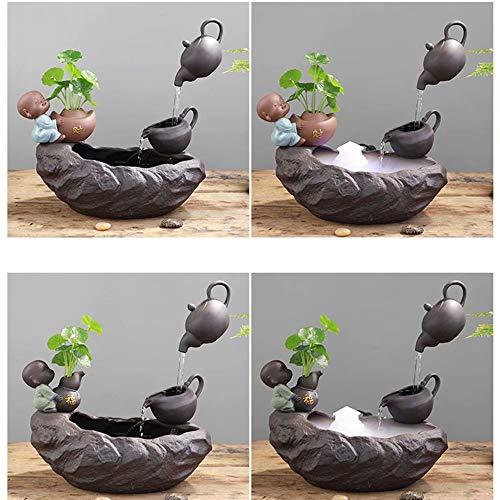 HSTFⓇ Kreative fließende Wasserdekoration, kleine Mischa, Bürowohnzimmer, Arbeitszimmer, Teehausdekoration (mit Nebel) - 9