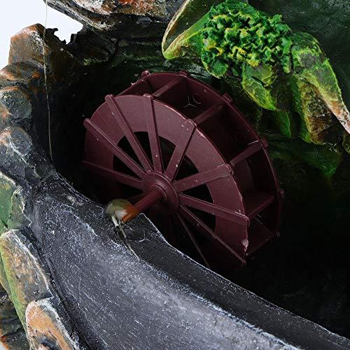 Harz Desktop Brunnen Simulation Steingarten Dekor Fater Brunnen mit Nebel mit bunten Lichtern Dekoration Ornamente Home Ornament MEHRWEG VERPAKUNG(2#) - 3