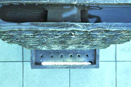 Köhko Zimmerbrunnen Höhe ca. 85 cm mit LED-Beleuchtung Wasserfall für Wohnzimmer Terrasse und Balkon - 3