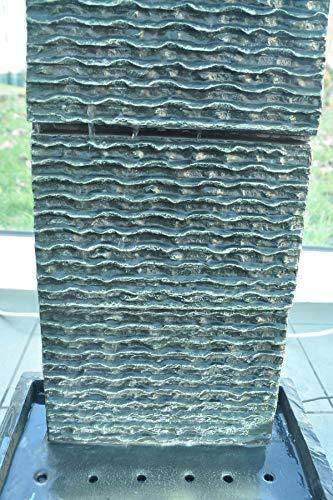 Köhko Zimmerbrunnen Höhe ca. 85 cm mit LED-Beleuchtung Wasserfall für Wohnzimmer Terrasse und Balkon - 4