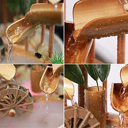 Bambusbrunnen mit mehreren Stufen und Mühlenrad - 4