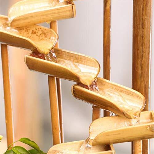 Bambusbrunnen mit mehreren Stufen und Mühlenrad - 6