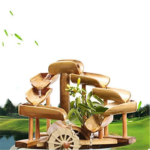 Bambusbrunnen mit mehreren Stufen und Mühlenrad - 7