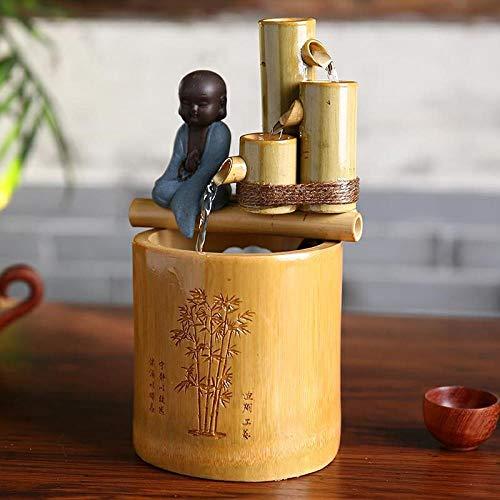 """Mini Bambusbrunnen mit Buddha Statue """"kleiner Mönch"""" - 2"""