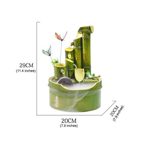 Zimmerbrunnen in Bambusoptik mit Mühlenrad - 2