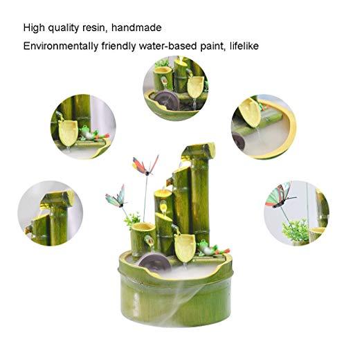 Zimmerbrunnen in Bambusoptik mit Mühlenrad - 5