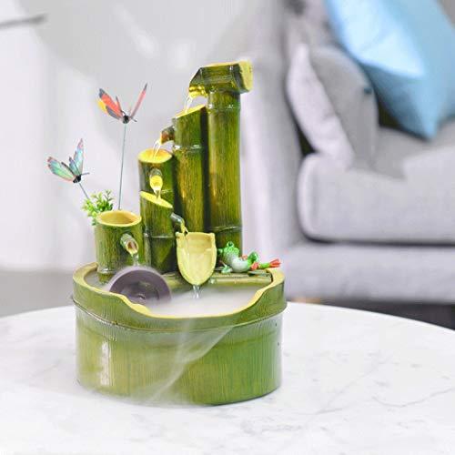 Zimmerbrunnen in Bambusoptik mit Mühlenrad - 6
