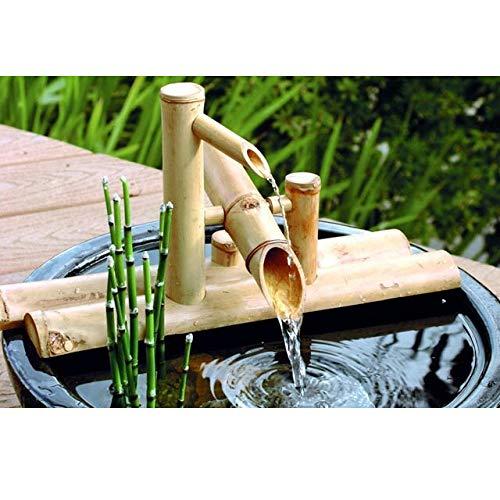 Bambus-Wasserspiel mit Wasserhahn und Wippe