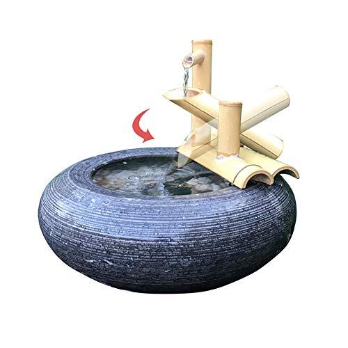 Bambus-Wasserspiel mit Wasserhahn und Wippe - 7