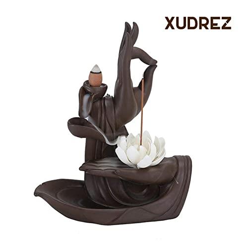Rauchbrunnen Lotus aus Keramik mit Räucherstäbchenhalter - 6