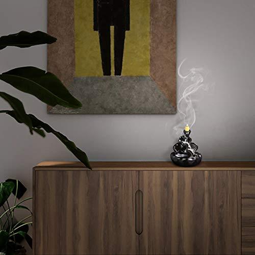 Kleiner Rauchbrunnen in dunklem Design mit Kaskaden - 4