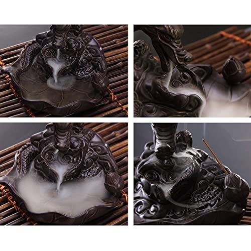 Rauchbrunnen in Drachendesign mit Räucherstäbchenhalter aus Keramik - 5