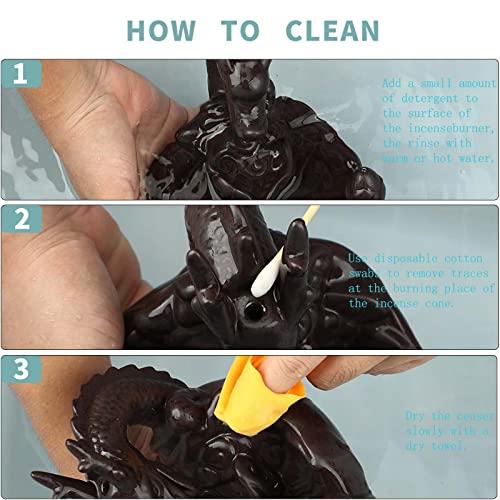 Rauchbrunnen in Drachendesign mit Räucherstäbchenhalter aus Keramik - 6