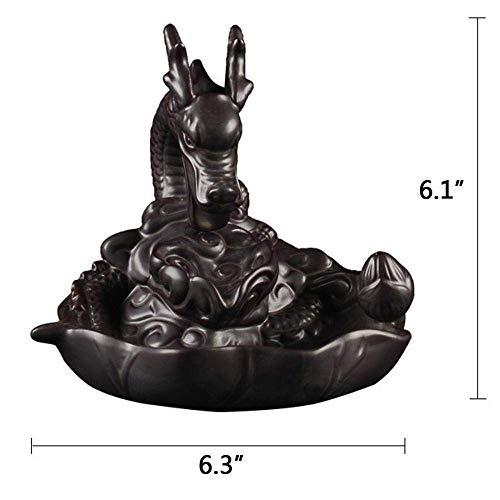 Rauchbrunnen in Drachendesign mit Räucherstäbchenhalter aus Keramik - 7