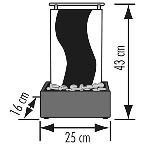 Beleuchtete Wasserwand Guan aus Schiefer 45 cm Höhe - 3